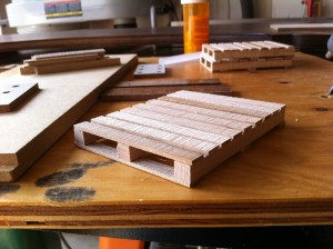 The remaining deck boards are filled in by eye - slightly skewing one here and there adds authenticity