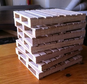 A stack of little pallets
